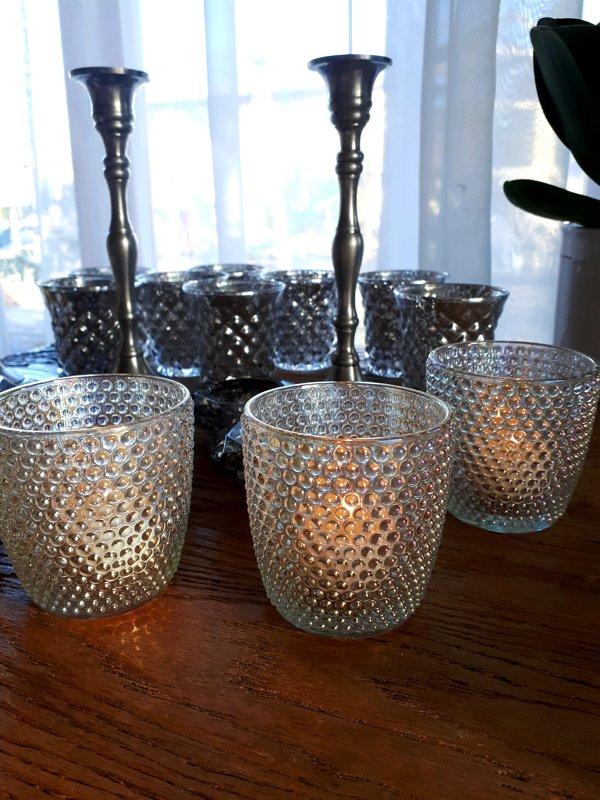 Pērļu raksta svečturi tējas svecēm
