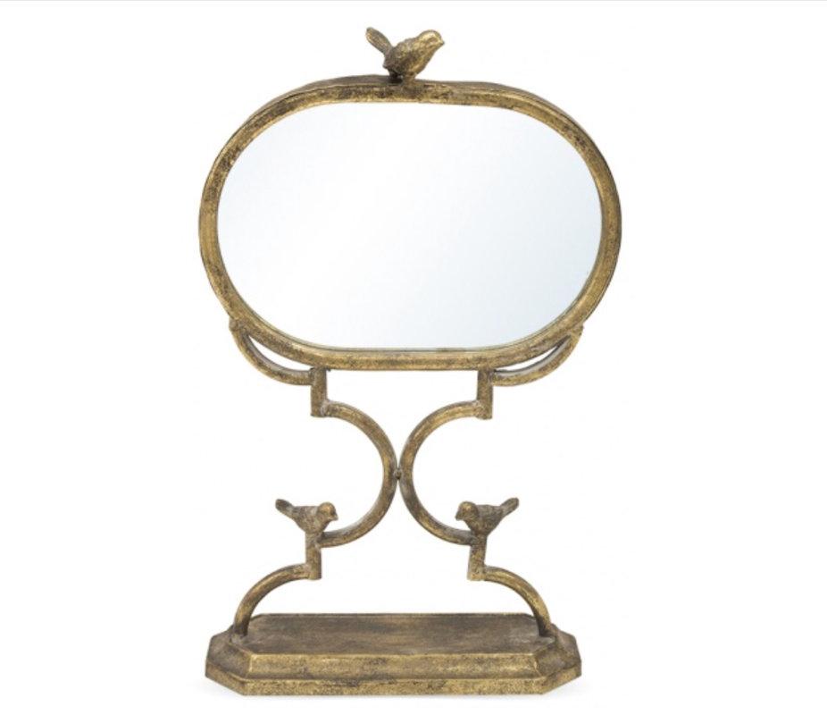 Dekoratīvs spogulis uz kājas