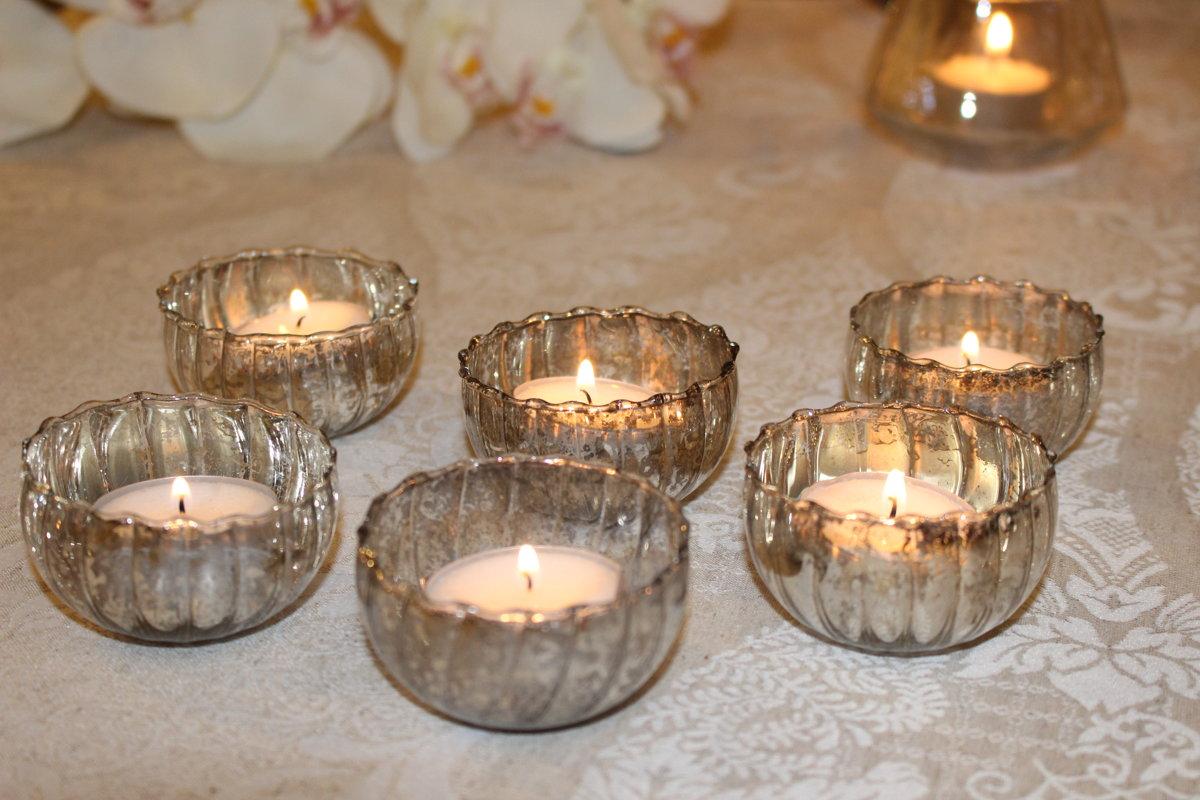 Eleganti svečturiņi tējas svecēm