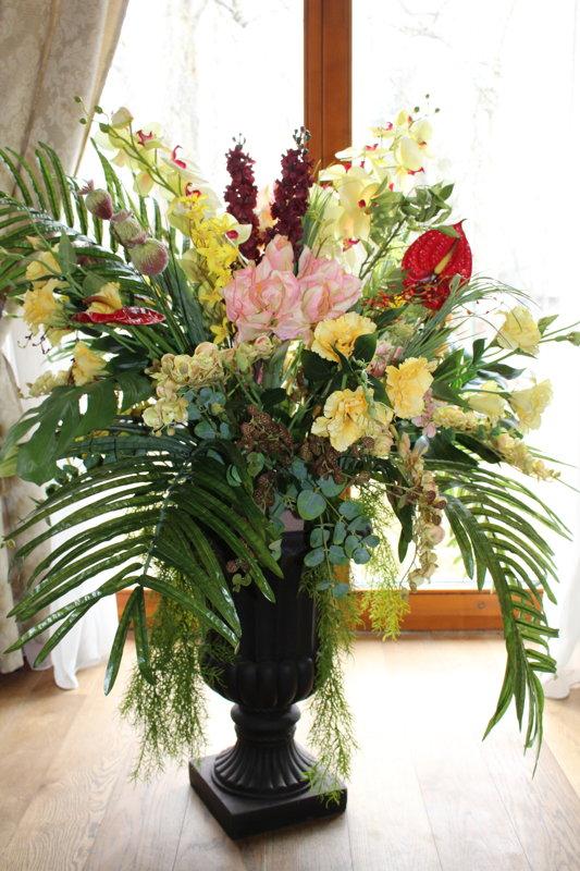 Eksotisku ziedu kompozīcijas