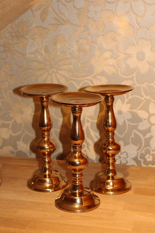 Metāla svečturi rose gold krāsā