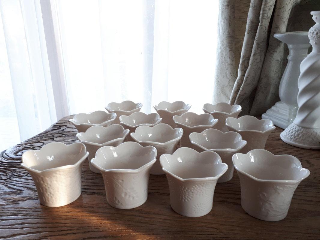 Balti porcelāna svečturi tējas svecēm