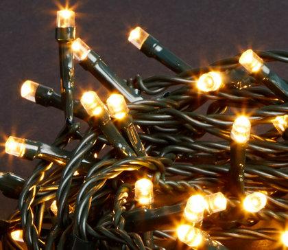 500 LED spuldzīšu virtene, 50m, silti baltas