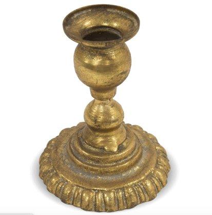 Antīka zelta metāla svečturi