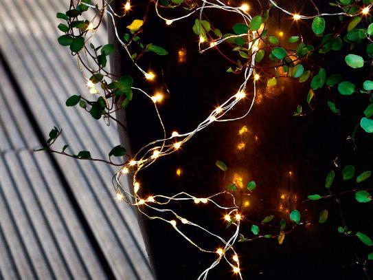 Micro LED virtenes, silti baltas