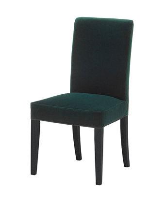 Tumši zaļi samta krēsli