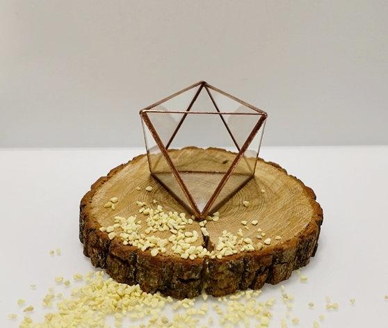 Ģeometriskas formas kapara svečturi/terāriji